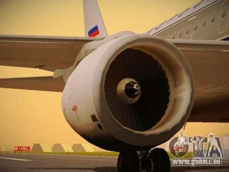 Airbus A320-214 Aeroflot Retrojet pour GTA San Andreas moteur