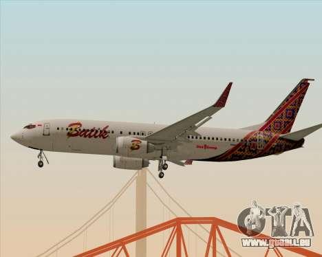 Boeing 737-800 Batik Air pour GTA San Andreas vue de droite