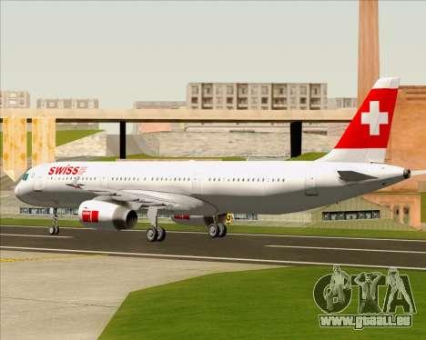 Airbus A321-200 Swiss International Air Lines für GTA San Andreas Rückansicht