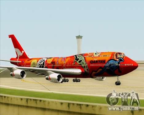 Boeing 747-400ER Qantas (Wunala Dreaming) für GTA San Andreas obere Ansicht
