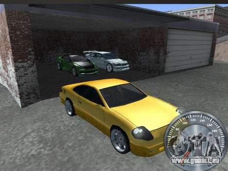 Métal classique de l'indicateur de vitesse pour GTA San Andreas quatrième écran