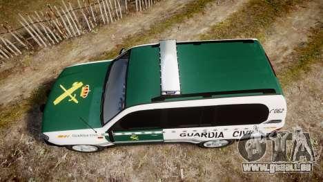 Toyota Land Cruiser Guardia Civil Cops [ELS] für GTA 4 rechte Ansicht