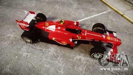 Ferrari F138 v2.0 [RIV] Massa TSD für GTA 4 rechte Ansicht
