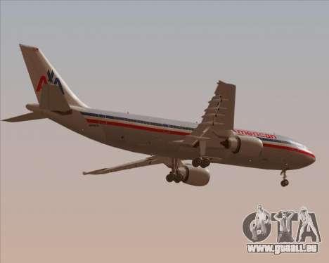 Airbus A300-600 American Airlines pour GTA San Andreas vue de dessous