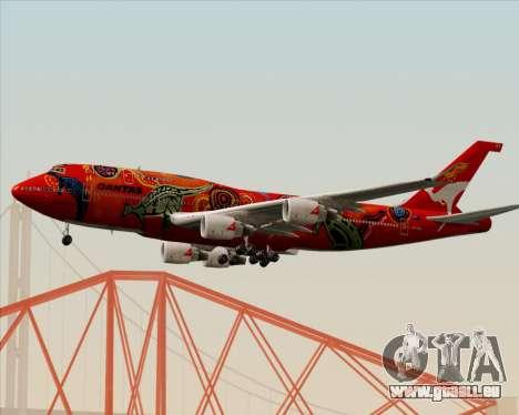 Boeing 747-400ER Qantas (Wunala Dreaming) für GTA San Andreas zurück linke Ansicht