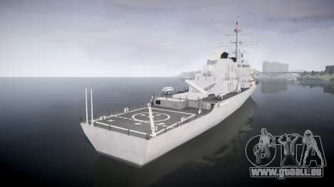 US Navy Destroyer Arleigh Burke pour GTA 4 Vue arrière de la gauche