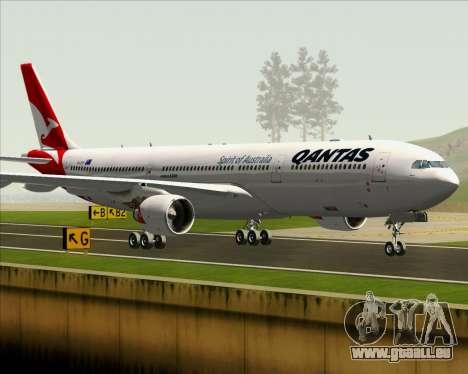 Airbus A330-300 Qantas (New Colors) pour GTA San Andreas vue de dessous