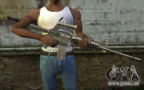 M4 from Hitman 2 pour GTA San Andreas troisième écran