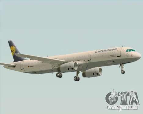 Airbus A321-200 Lufthansa pour GTA San Andreas vue de côté