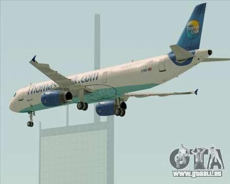 Airbus A321-200 Thomas Cook Airlines pour GTA San Andreas vue de dessous