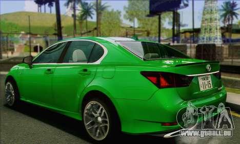 Lexus GS350 pour GTA San Andreas laissé vue