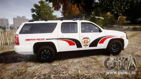 Chevrolet Suburban 2008 Hebron Police [ELS] Blue pour GTA 4 est une gauche