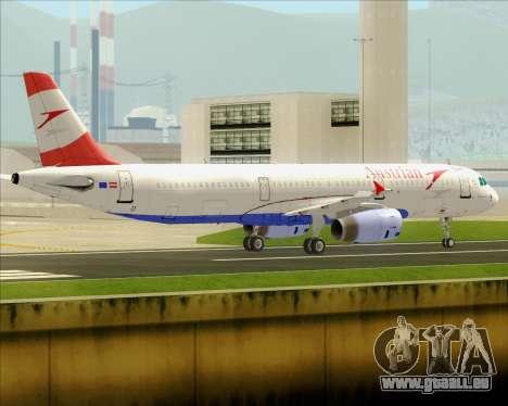 Airbus A321-200 Austrian Airlines pour GTA San Andreas vue arrière