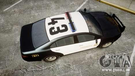 GTA V Vapid Interceptor LSS Black [ELS] für GTA 4 rechte Ansicht