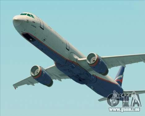Airbus A321-200 Aeroflot - Russian Airlines pour GTA San Andreas vue intérieure