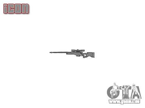 Fusil de Sniper L96A1 Magnum pour GTA 4 troisième écran