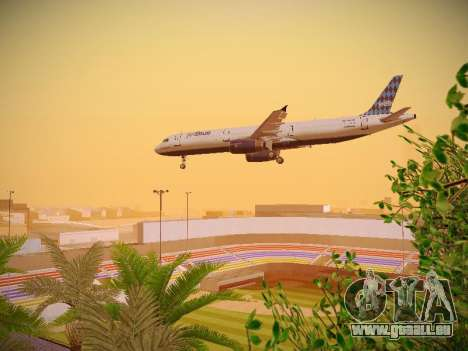 Airbus A321-232 jetBlue Airways für GTA San Andreas obere Ansicht