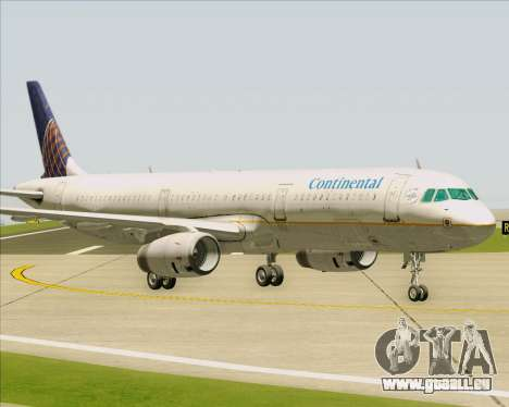 Airbus A321-200 Continental Airlines pour GTA San Andreas vue intérieure