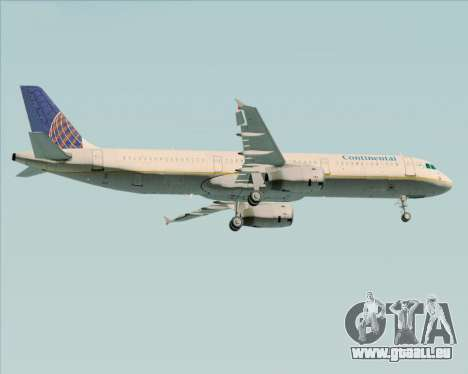 Airbus A321-200 Continental Airlines pour GTA San Andreas roue