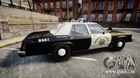 Ford LTD Crown Victoria 1987 Police CHP1 [ELS] pour GTA 4 est une gauche