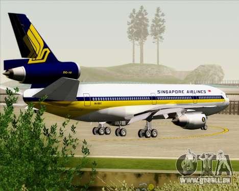 McDonnell Douglas DC-10-30 Singapore Airlines pour GTA San Andreas roue