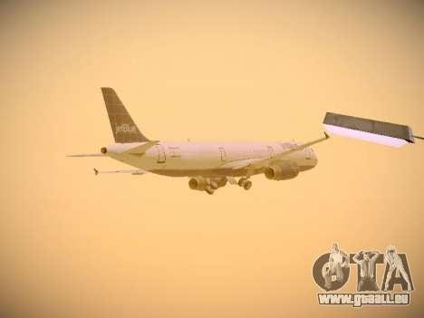 Airbus A321-232 jetBlue Batty Blue pour GTA San Andreas vue de dessous