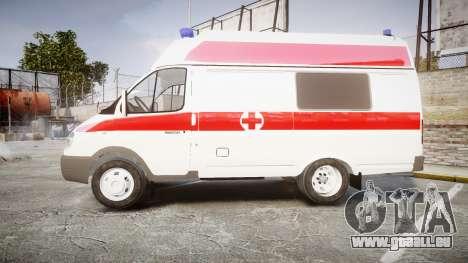 GAS-32214 Krankenwagen für GTA 4 linke Ansicht