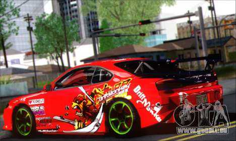 Nissan Silvia S15 Team Drift Monkey für GTA San Andreas zurück linke Ansicht