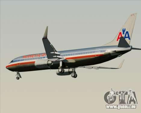 Boeing 737-800 American Airlines für GTA San Andreas Rückansicht