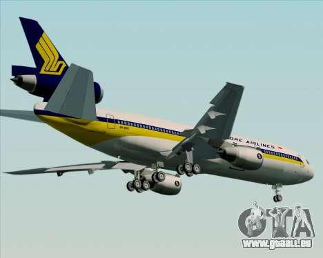 McDonnell Douglas DC-10-30 Singapore Airlines pour GTA San Andreas vue intérieure