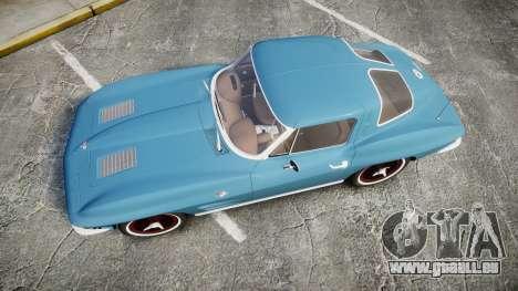 Chevrolet Corvette Stingray 1963 v2.0 für GTA 4 rechte Ansicht