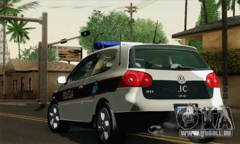 Volkswagen Golf V pour GTA San Andreas laissé vue