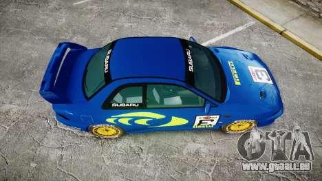 Subaru Impreza WRC 1998 World Rally v3.0 Green pour GTA 4 est un droit