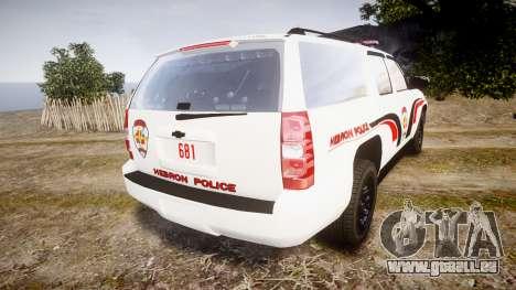 Chevrolet Suburban 2008 Hebron Police [ELS] Red pour GTA 4 Vue arrière de la gauche