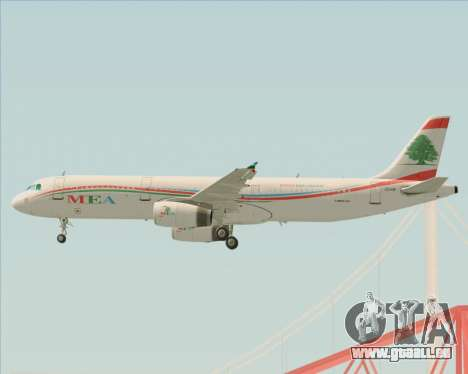 Airbus A321-200 Middle East Airlines (MEA) pour GTA San Andreas roue