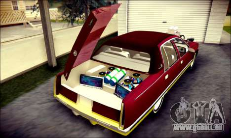 Cadillac Fleetwood 1993 Lowrider für GTA San Andreas Innen