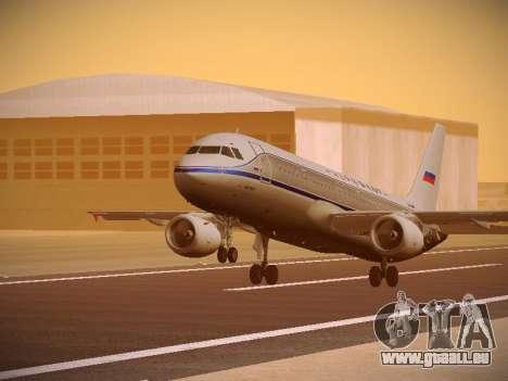Airbus A320-214 Aeroflot Retrojet pour GTA San Andreas laissé vue