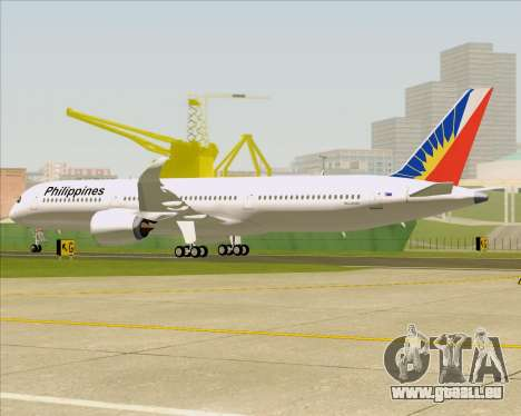 Airbus A350-900 Philippine Airlines pour GTA San Andreas roue