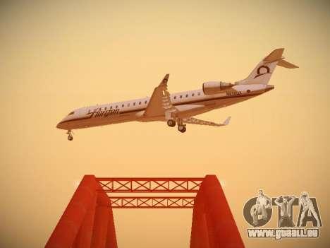 Bombardier CRJ-700 Horizon Air pour GTA San Andreas vue intérieure
