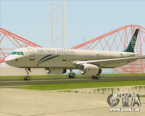 Airbus A321-200 Air New Zealand für GTA San Andreas Rückansicht