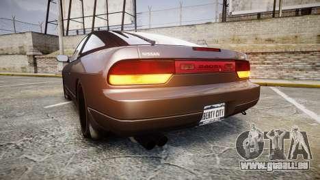 Nissan 240SX S13 pour GTA 4 Vue arrière de la gauche