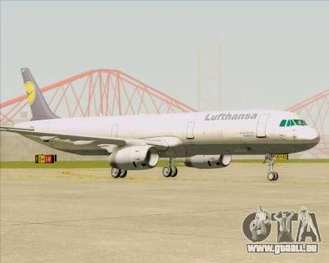 Airbus A321-200 Lufthansa pour GTA San Andreas laissé vue