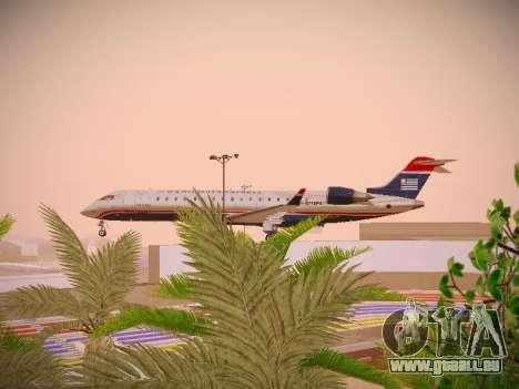 Bombardier CRJ-700 US Airways Express pour GTA San Andreas vue intérieure