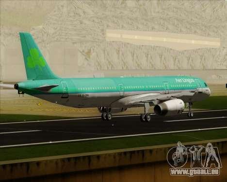 Airbus A321-200 Aer Lingus für GTA San Andreas rechten Ansicht