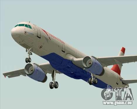 Airbus A321-200 Austrian Airlines pour GTA San Andreas sur la vue arrière gauche