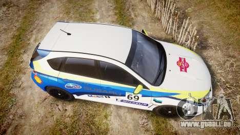 Subaru Impreza Cosworth STI CS400 2010 Custom pour GTA 4 est un droit