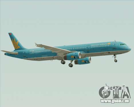 Airbus A321-200 Vietnam Airlines für GTA San Andreas rechten Ansicht