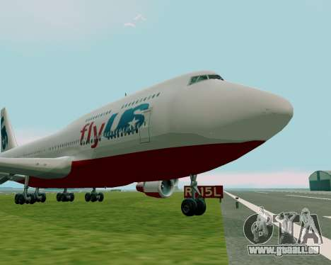 FlyUS pour GTA San Andreas sur la vue arrière gauche