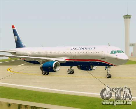 Airbus A321-200 US Airways für GTA San Andreas Innenansicht