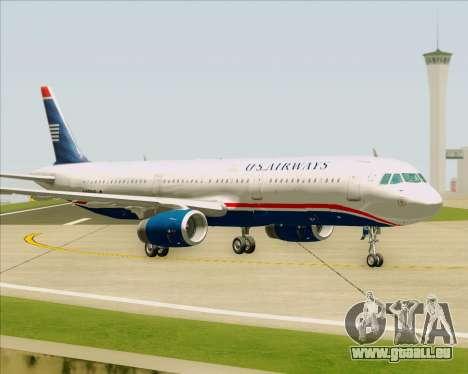 Airbus A321-200 US Airways für GTA San Andreas Innenansicht